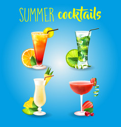 cocktail alcohol drink beverage mojito travel vector image