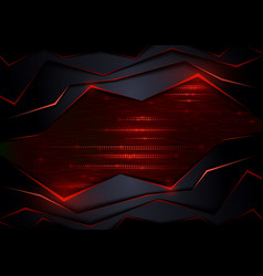 dark abstract tech background vector image
