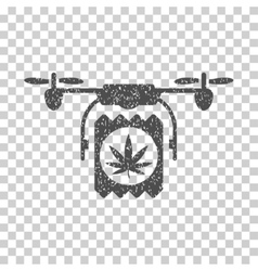 Drone Cannabis Delivery Grainy Texture Icon vector