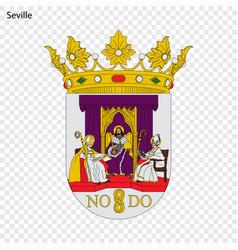 Emblem of seville city of spain vector