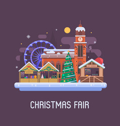 europe christmas fair background vector image