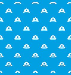 Fireman helmet pattern seamless blue vector
