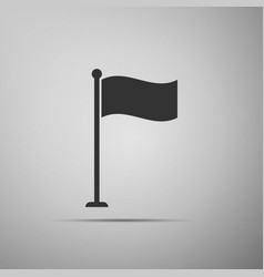 flag icon on grey background location marker vector image