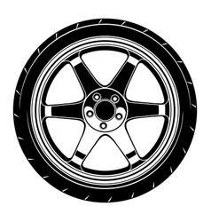 Flat car wheel 7 vector