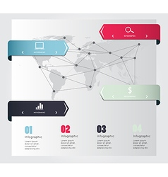 Global infographic for business project vector image