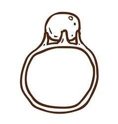 Hand Drawn Ring vector image