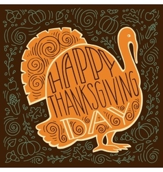 Handpainted of a Turkey vector image