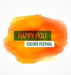 happy holi colors festival vector image