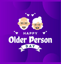 Happy older person day design for celebrate moment vector