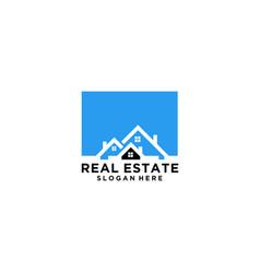 home real estate logo vector image