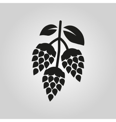 Hops icon Beer and hop symbol UI Web Logo vector