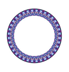 Isolated geometrical colorful tiled mosaic circle vector