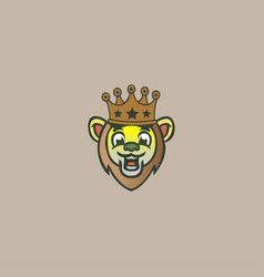 king lion logo icon vector image