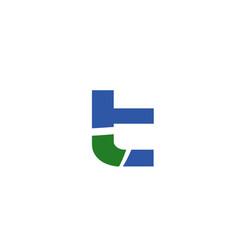 letter t logo vector image