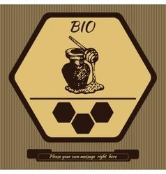 Logo for advertising honey 2 vector image