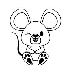 Mouse cute animal cartoon icon image vector