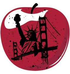 new york the big apple vector image