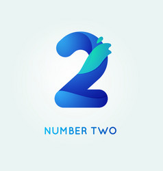Number two in trend shape style vector