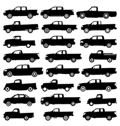 Pickup silhouettes vector