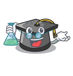 Professor graduation hat character cartoon vector
