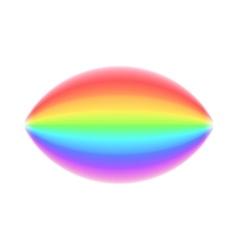 Rainbow icon realistic style vector image