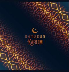 Ramadan kareem festival islamic background vector