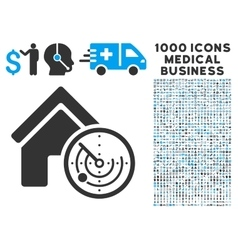 Realty radar icon with 1000 medical business vector