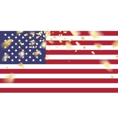 Red white and blue flag vector