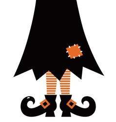 Retro Halloween Witch vector