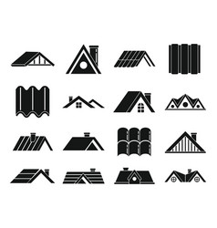 Roicons set simple style vector