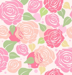 Seamless Pattern with Pastel Roses vector