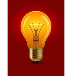 Shining bulb vector