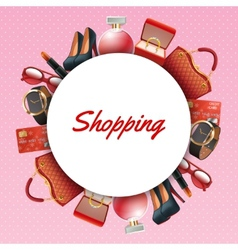 Shopping Accessories Frame vector