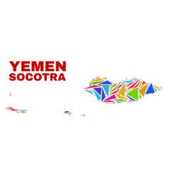 Socotra archipelago map - mosaic color vector