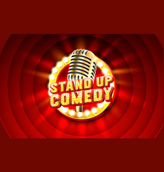 Stand up comedy signboard label concert vocal vector