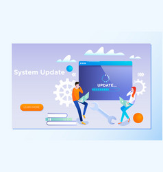 system update people update operation system can vector image