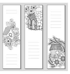 Template design bookmarks isolated Coloring page vector