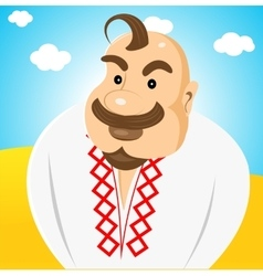ukrainian with forelock on his head vector image