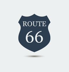 united states numbered route 66 icon vector image