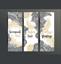 vertical flyers or three fold brochure template vector image