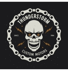 Vintage motorcycle t-shirt graphics Thunderstorm vector