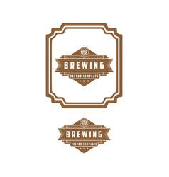 Vintage retro style beer or brewing logo design v vector