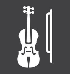 violin glyph icon music and instrument vector image
