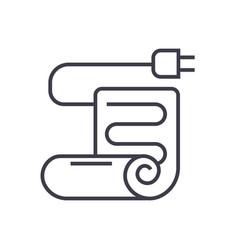 Warm floorunder floor heating line icon vector