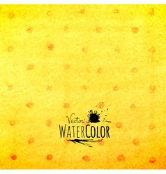 Watercolor polka dot pattern yellow orange and red vector