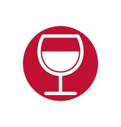 Wine glass simplistic black and white icon vector image