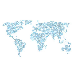 World map pattern of dollar cheque icons vector