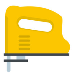 Yellow pneumatic gun icon isolated vector