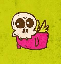 Flying Skeleton Cartoon vector image vector image
