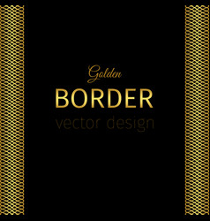 golden border with guilloches vector image vector image